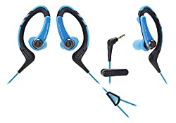 audio technica sonic sports waterproof ath-sports1 blue/black