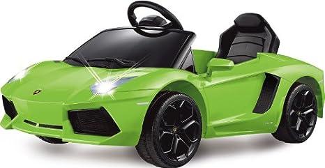 Jamara - 404615 - Maquette - Voiture - Ride On Car - Lamborghini Aventador Lp 700-4 - Vert - 6 Pièces