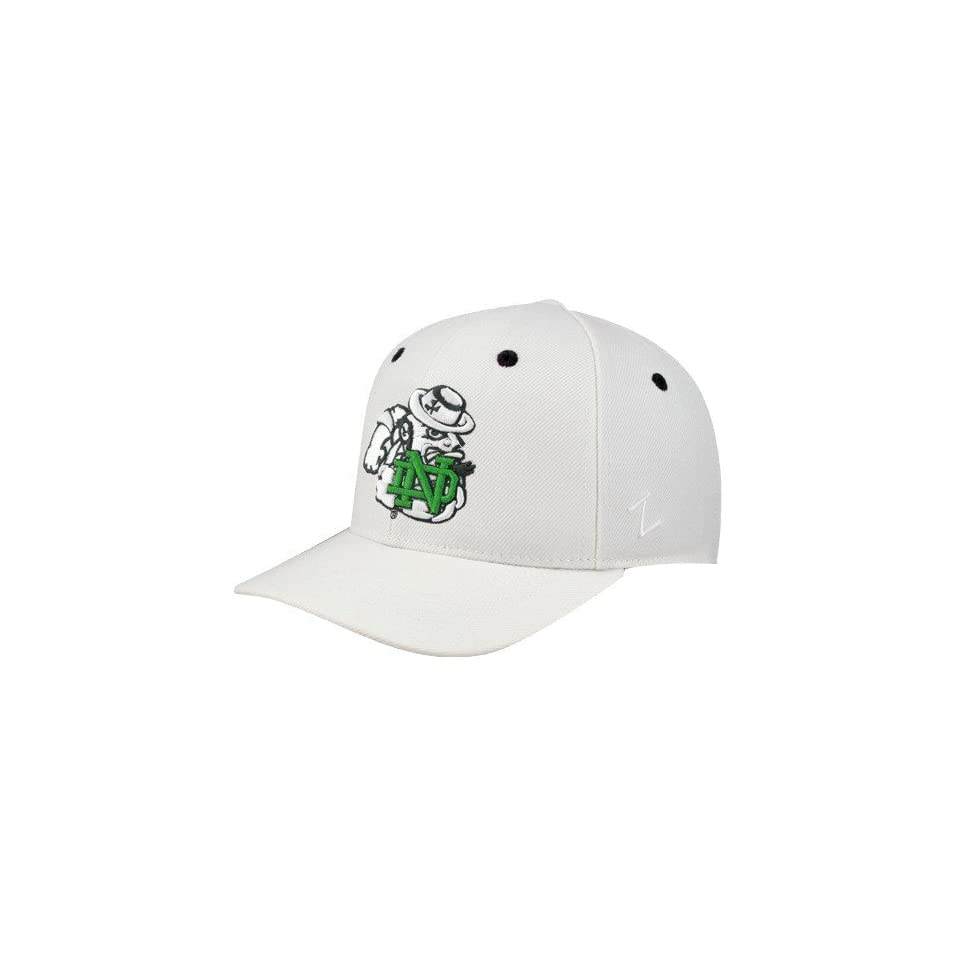 Zephyr Notre Dame Fighting Irish White Flurry Fitted Hat