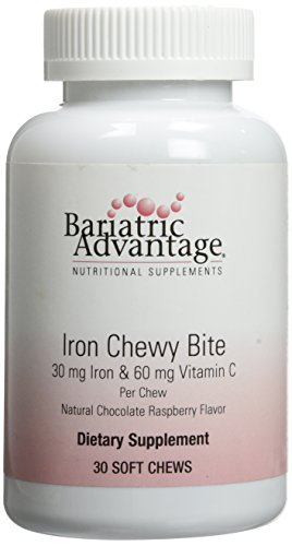 Bariatric Advantage Iron Chewy Bite Chocolate Raspberry Truffle (30 mg iron, 60 mg vitamin c) 30 count (Iron Chewable compare prices)