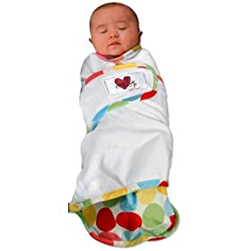 Snug and Tug Swaddle Blanket Retro Dots