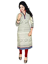 Trendistan Women's Cotton Straight Kurti(bb6m_Multicolored_M)