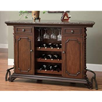 Coaster Home Furnishings Traditional Bar Unit, Cherry