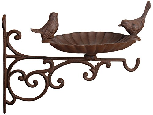 Esschert-Design-FB163-Cast-Iron-Birdbath-with-Bracket