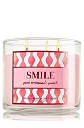 1 X Bath & Body Works 3 Wick Candle 14.5 Oz Smile - Pink Lemonade Punch by bath & body works