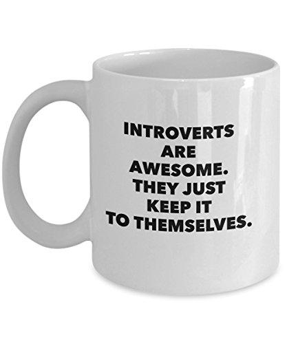 Introverts Awesome Coffee Mug-White