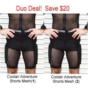 Duo Deal. Bohn Coolair Adventure Shorts Mesh (1)-Small / Bohn Coolair Adventure Shorts Mesh (2)-Small