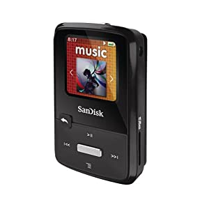 Sandisk Sansa Clip Zip 4GB MP3 Player, microSD/SDHC Slot, FM Radio, Voice Recorder, Stopwatch BLACK