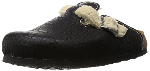 BIRKIS BIRKENSTOCK BOSTON 937313 CIABATTE UNISEX sandali scarpe Nero narrow