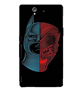 EPICCASE Two sides of Man Mobile Back Case Cover For Sony Xperia Z (Designer Case)