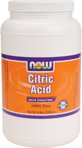 NOW Foods Citric Acid Powder Bulk, 5 Pound Tub