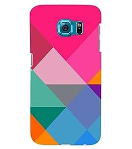 PrintVisa Digital Art Pattern 3D Hard Polycarbonate Designer Back Case Cover for Samsung Galaxy S6 Edge