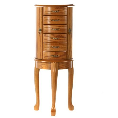 wood standing jewelry box types of wood