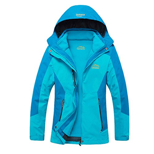Modern Fantasy Womens Outdoor 3 in 1 Detachable Warm Inside Multifunction Jacket Light Blue Size US XS (Arctex Thermal Underwear compare prices)