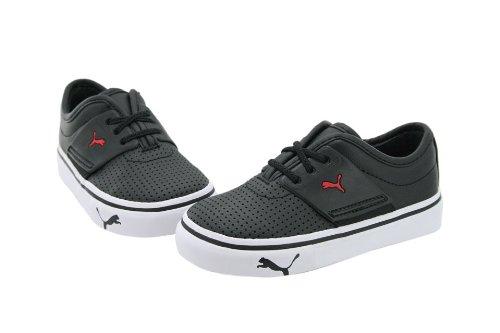 Puma El Ace Sneaker (Toddler/Little Kid),Black/Red,5 M Us Toddler front-1058596