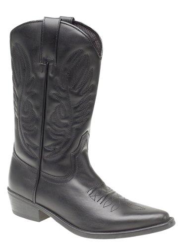 Men's KANSAS Western Cowboy Boots Black size 11