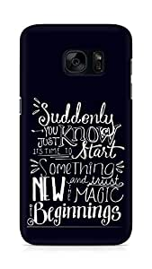 AMEZ start something new and the magic begins Back Cover For Samsung Galaxy S7