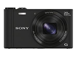 Sony DSC-WX300/B 18 MP Digital Camera with 20x Optical Image Stabilized Zoom and 3-Inch LCD (Black)