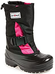 Stonz Winter Boots For Cold Weather, Snow, Ice and Winter Sports - Insulated, Super Light, Warm, Pink/Black, Toddler 13