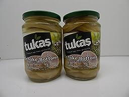 Tukas Imported Turkish Artichoke Bottoms 24 Oz (720 Ml) X 2 Pack
