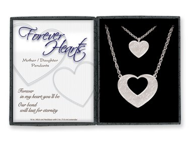 Forever Hearts Mother/daughter Pendant Set