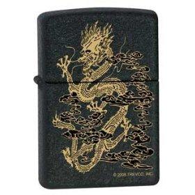 Dragon Smoke Black Matte Zippo