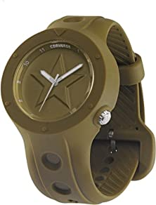 buy Converse Unisex Vr001305 Rookie Icon Olive Green Analog Watch