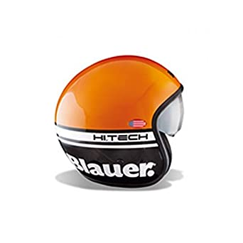 BLCJ108XS - Casque Blauer Pilot Orange/Noir Brillant XS