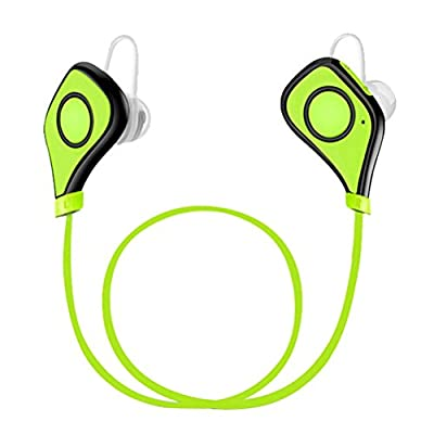 Anbes Headset Earphones Bluetooth 4.1 Wireless Stereo Headphones Noice Cancelling Sport Running Gym Exercise Earbuds Sweatproof Built-in Mic for iPhone, Samsung, iOS and Android Smartphones/Devices