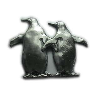 Aphrodite(アフロディーテ) ネクタイピン 動物 鳥 ペア ペンギン 銀色 日本製