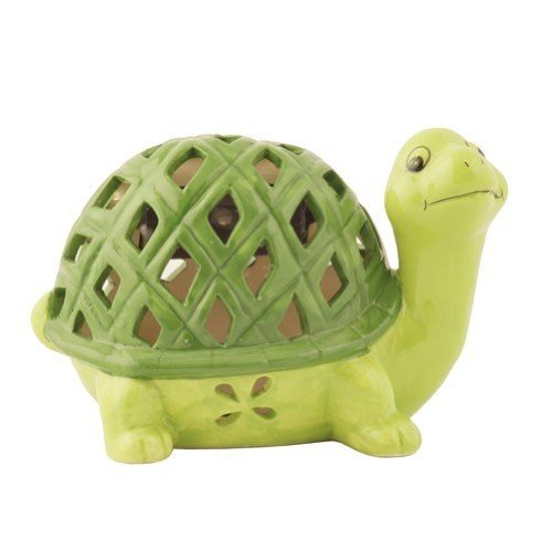 Flipo Solar Illuminated Color Changing Solar Light in Ceramic Figurine, Turtle