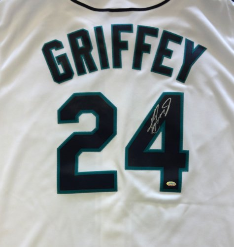 Just Signed!! Ken Griffey, Jr. Autographed Seattle Mariners White Replica Jersey MCS Holo at Amazon.com