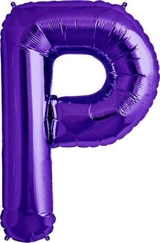 Letter P - Purple Helium Foil Balloon - 34 inch
