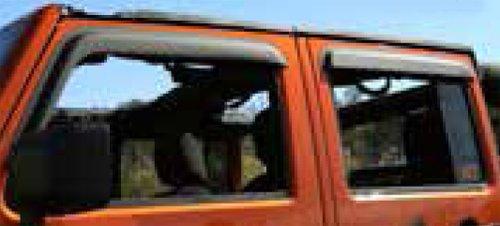 Jeep Wrangler Jk 4 Door Window Visors (2007-2014)