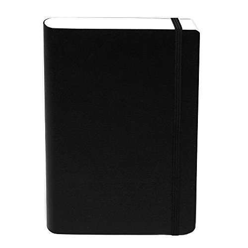 basicos-mr-10402-flexible-leather-notebook-4-300-sheets-squared-with-rubber-black