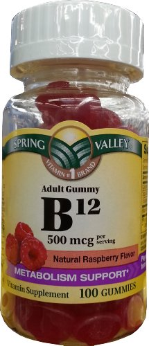Spring Valley Adult Gummy B12, 500Mcg Per Serving, 100Ct, Metabolism Support