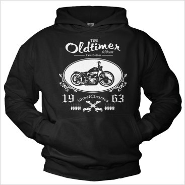 Biker Hoodies for men TWIN BOBBER 650 Hooded Sweatshirt Pullover XXL