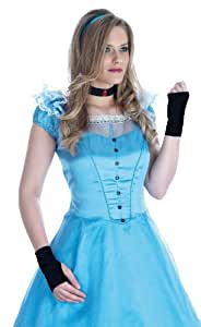 Ladies Blue Victorian Dress Fancy Dress Costume 12 - 14