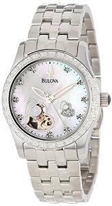 (史低)宝路华女士 钻石表 Bulova Women's 96R122,$359.00