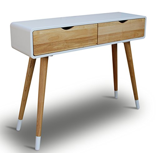 konsolentisch holz wei 100 x 30 x 80 cm konsole. Black Bedroom Furniture Sets. Home Design Ideas