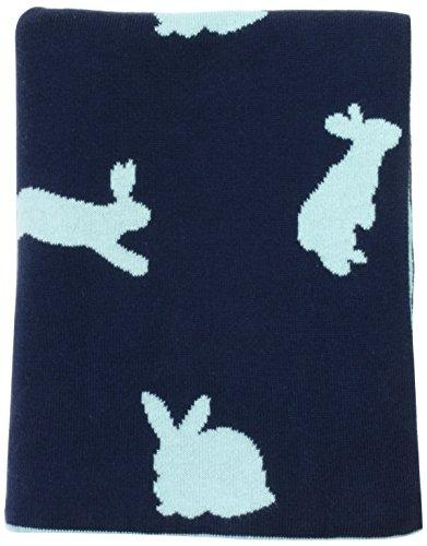 DARZZI Bunny Baby Blanket, Navy/Blue