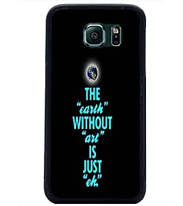 PrintDhaba Quote D-3335 Back Case Cover for SAMSUNG GALAXY S6 EDGE (Multi-Coloured)