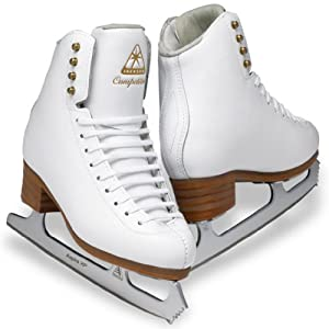 Jackson Competitor Ice Skates - DJ2470 Ladies White Figure Ice Skates by Jackson