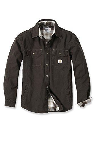 carhartt-arbeitshemd-arbeitsshirt-arbeitsjacke-weathered-canvas-shirt-jacket-dark-brown-xl