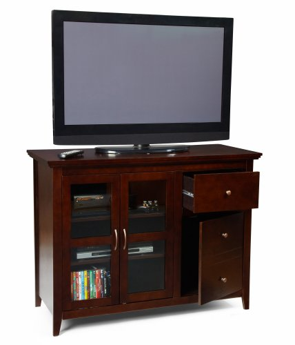 Convenience Concepts 8043387 Sierra Highboy TV Stand for Flat Panel TV's up to 50-Inch or 100-Pounds