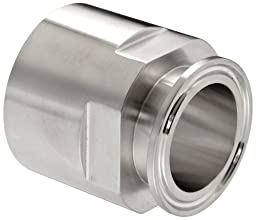 Dixon 22MP-R150 Stainless Steel 316L Sanitary Fitting, Clamp Adapter, 1-1/2\