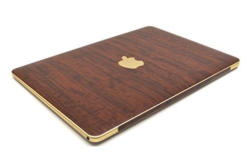 """iCarbons Dark Wood Vinyl Skin for MacBook Pro 12"""" Retina Top Only"""
