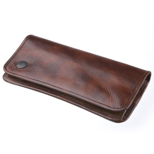 LuggageAOKI(青木鞄)[la GALLERIA(ラ・ガレリア) curva]オイルレザー長財布 ブラウン(2795-50)
