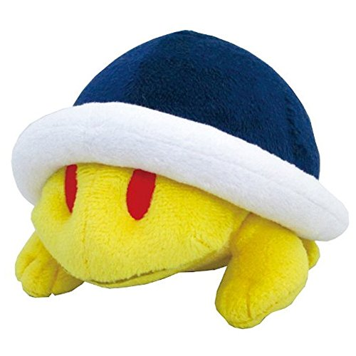 "Sanei Super Mario Plush Series Buzzy Beetle/Meto Plush Doll, 4"" - 1"