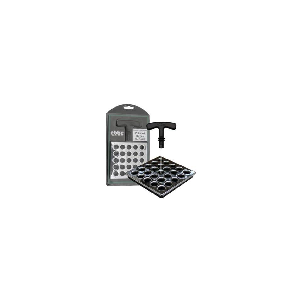 Ebbe Polished Chrome Square Shower Drain Grate E4401